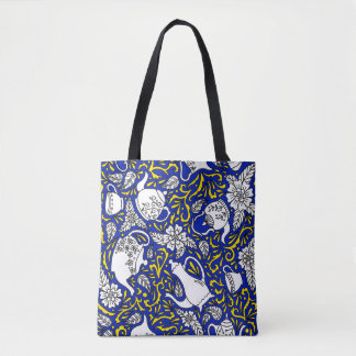 Tea Time Blue Tote Bag