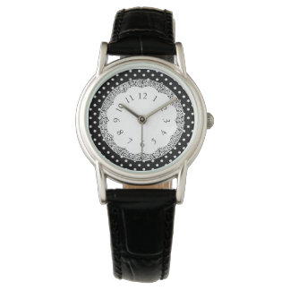Tea-Time_Classic-Vintage_Polka-Dots-Lace-II Watch
