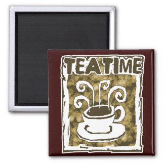 Tea Time Cup with Steam Magnet
