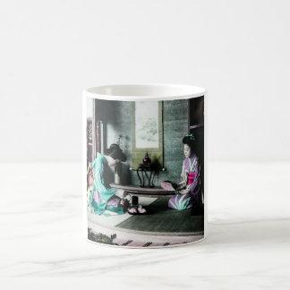 Tea Time for Two in Old Japan Vintage Geisha Coffee Mug