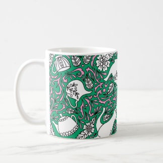 Tea Time Green Coffee Mug