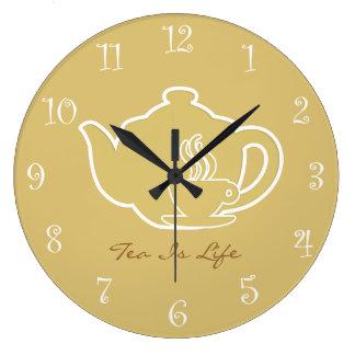 Tea Time Kitchen Wall Clocks