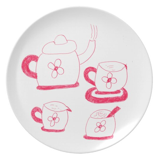 Tea Time  Melamine Plate