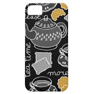 tea time on dark iPhone 5 cover