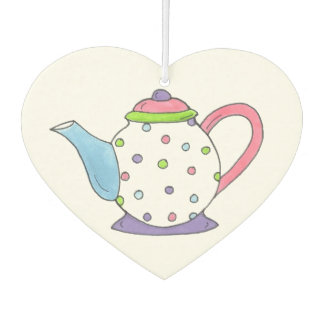 Tea Time Polka Dot Teapot Tea Party Teaparty Car Air Freshener