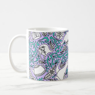 Tea Time Purple Coffee Mug
