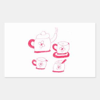 Tea Time Rectangle Sticker