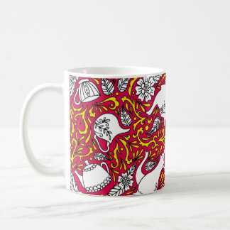 Tea Time Red Coffee Mug