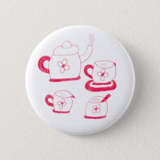 Tea Time Round Badge 2 Inch Round Button
