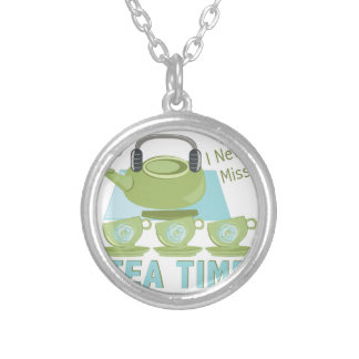 Tea Time Silver Plated Necklace