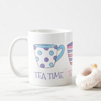 Tea Time Teacups Tea Party Pastel Coffee Mug