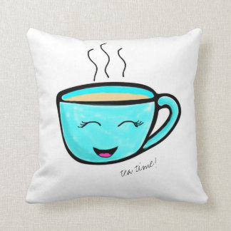 Tea time! throw pillow
