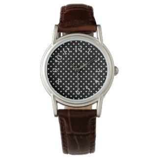 Tea-Time_Vintage_Polka-Dots_B & W_REVIS Watch