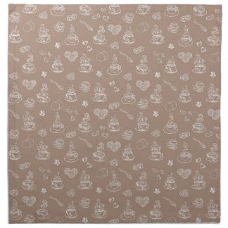 Tea time / warm taupe napkin