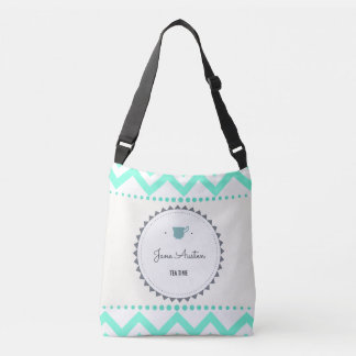Tea Time with Jane Austen Crossbody Bag