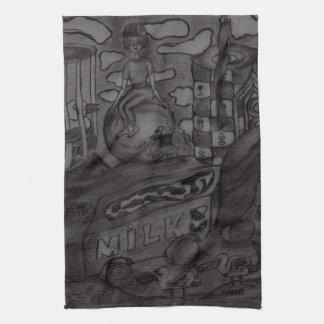 "Tea Towel 40.6 cm x 61 cm "" Milk and butter"""