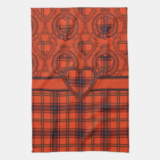Tea towel Wemyss Heart Scottish Tartan design