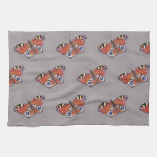 Tea-Towel with Peacock Butterfly Design Kitchen Towel
