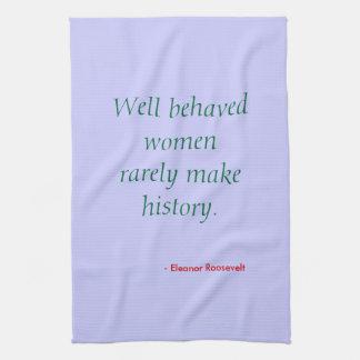 Tea towel - women behaving badly?