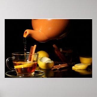 Tea with cinnamon poster