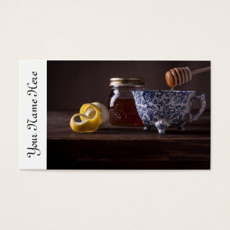 Tea with lemon and honey business card