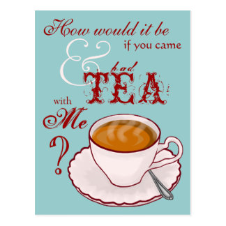 Tea with Me Postcard
