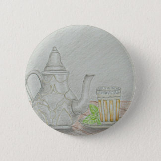 tea with mint 2 inch round button