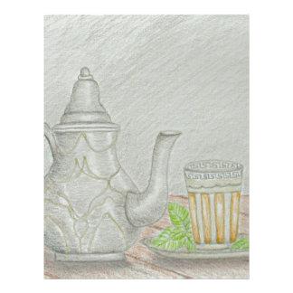 tea with mint letterhead