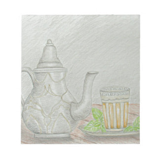 tea with mint notepad