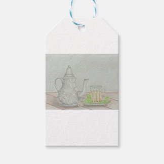 tea with mint pack of gift tags