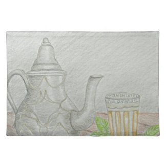 tea with mint placemat