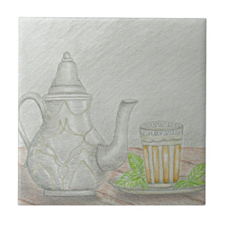 tea with mint tile