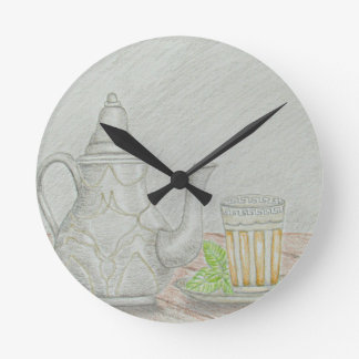 tea with mint wallclock