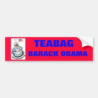 Teabag Barack Obama bumper sticker