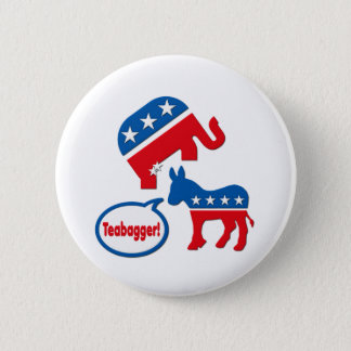 Teabagger Republican Democrat Tea Party Politics 2 Inch Round Button