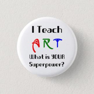 Teach art 1 inch round button