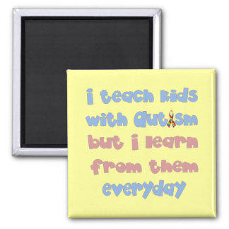 Teach Kids with Autism - Awareness Ribbon Magnet
