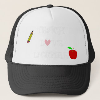 teach love inspire2 trucker hat