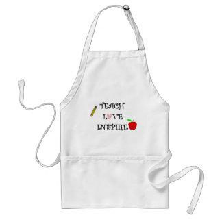 teach love inspire standard apron