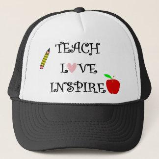 teach love inspire trucker hat