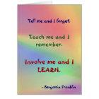 Teach Me Franklin Quote Card