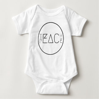 Teach Peace Baby Bodysuit