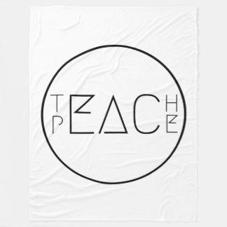 Teach Peace Fleece Blanket