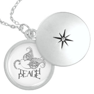 Teach Peace Sterling Silver Locket Perfect For Her