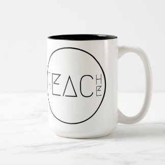 Teach Peace Two-Tone Coffee Mug