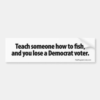 Teach someone how to fish bumper sticker