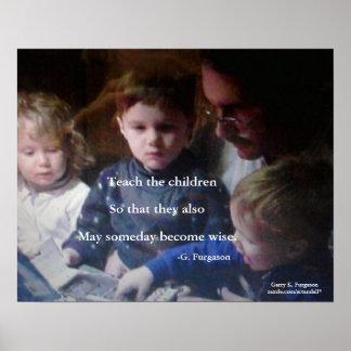 TEACH THE CHILDREN PRINT