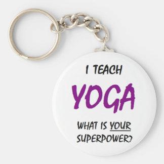 Teach yoga keychain