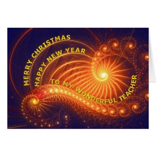 Teacher, a Christmas wish Card