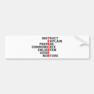 Teacher Acrostic Bumper Sticker